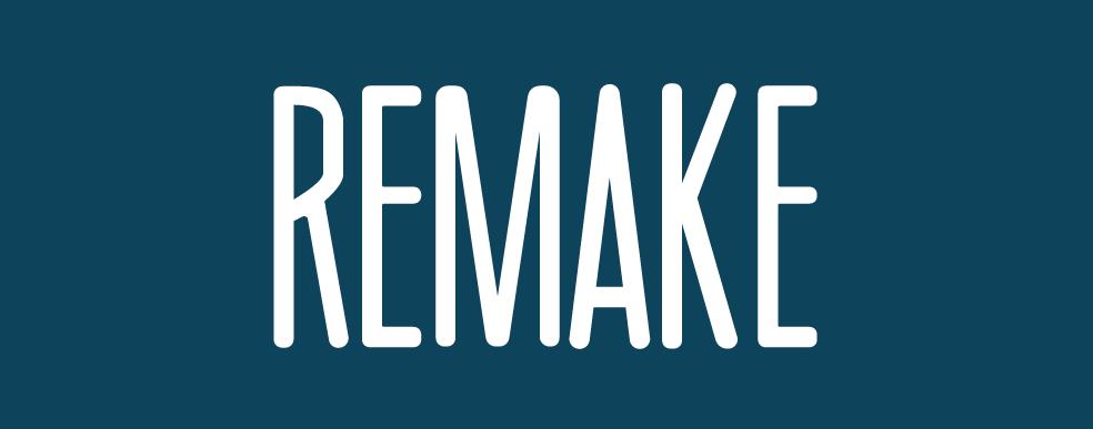 Remake logo - navy background