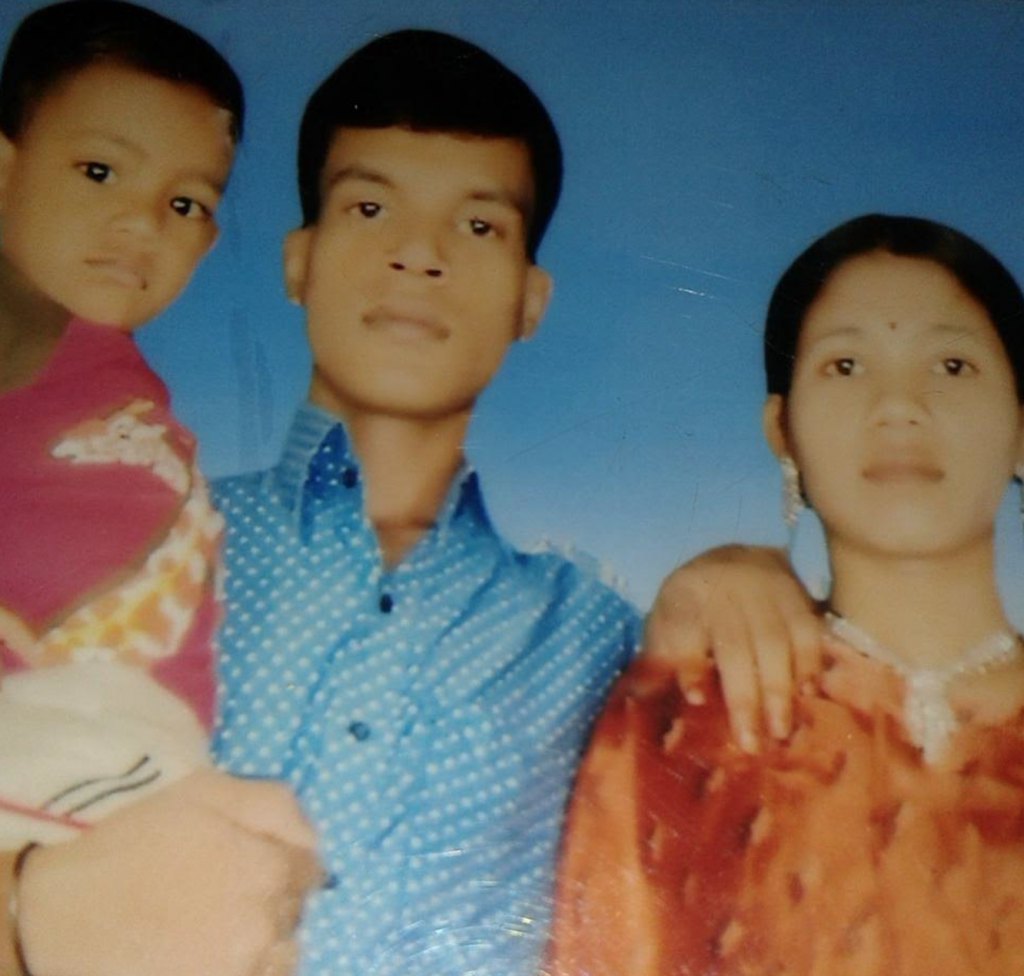 Photo: Munir Islam and family. His wife was 7-months pregnant when she was lost in the Tazreen Fashions fire.