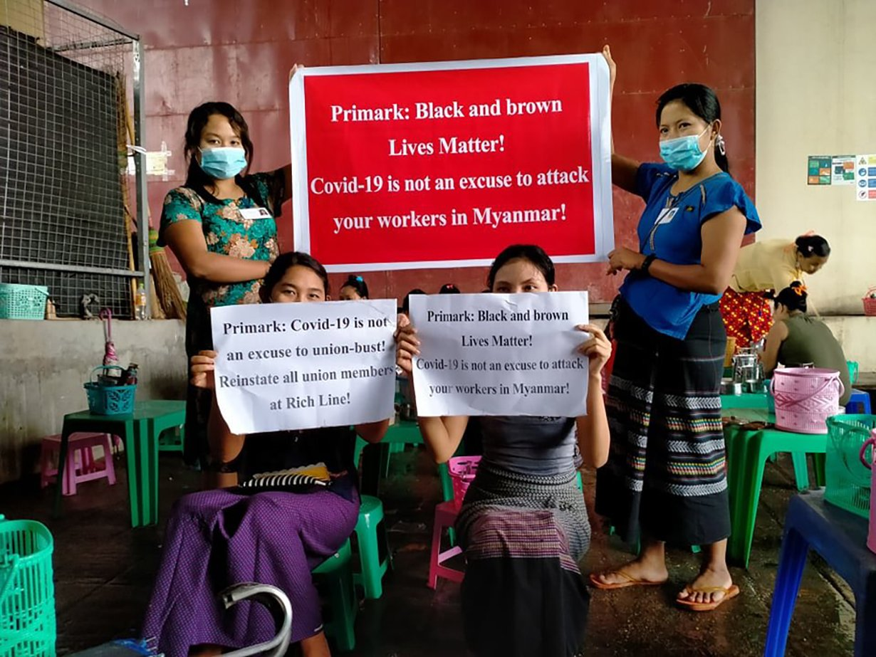 garment worker protests