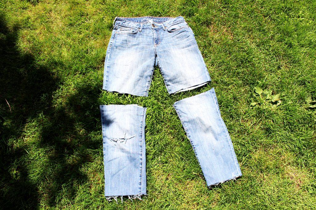 DIY Jean Cutoff Shorts